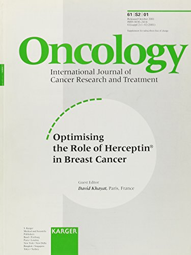 9783805573276: Optimising the Role of Herceptin® in Breast Cancer (Supplement Issue: Oncology 2001, 2)