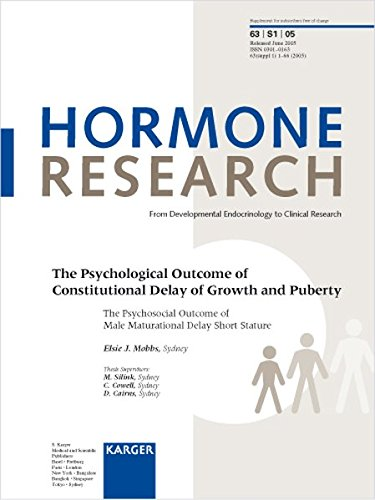 9783805579414: 63: The Psychological Outcome of Constitutional Delay of Growth and Puberty: The Psychosocial Outcome of Male Maturational Delay Short Stature (Hormone Research)