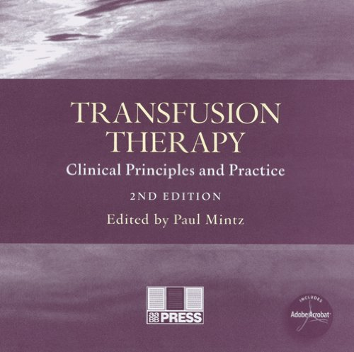 9783805579872: Transfusion Therapy: Clinical Principles and Practice