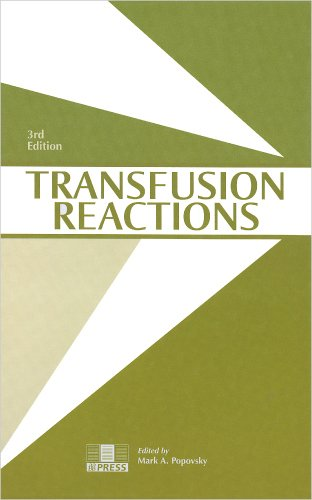 9783805584098: Transfusion Reactions