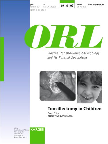 9783805584364: 69: Tonsillectomy in Children (Orl Journal for Oto-rhino-laryngology and Its Realted Specialties)