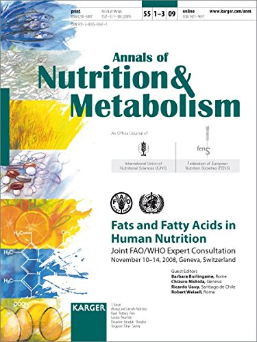 9783805592611: Fats and Fatty Acids in Human Nutrition: Joint FAO/WHO Expert Consultation, November 10-14, 2008, Geneva, Switzerland (Annals of Nutrition & Metabolism 2009)