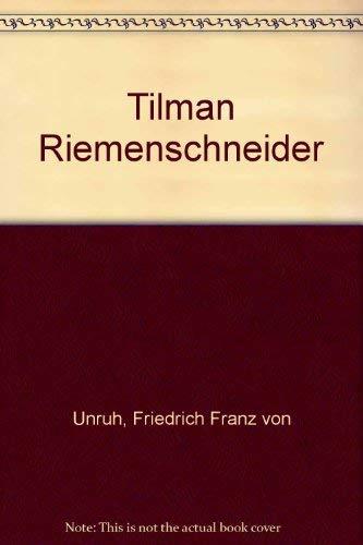 9783805614306: Tilman Riemenschneider. Erz�hlung