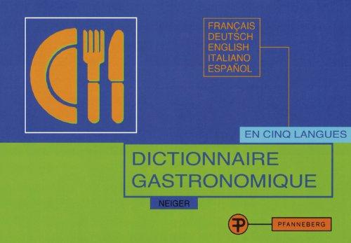 9783805706025: Dictionnaire Gastronomique
