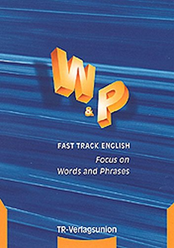 9783805833882: Fast Track English, Focus on Words and Phrases