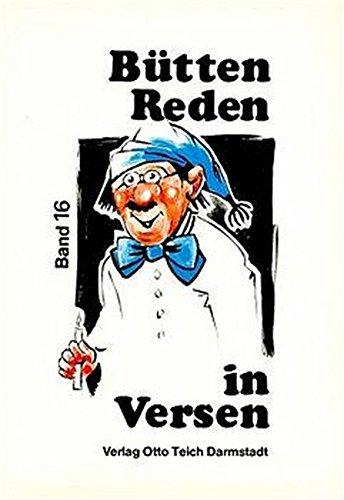 9783806902891: Büttenreden in Versen, Bd.16