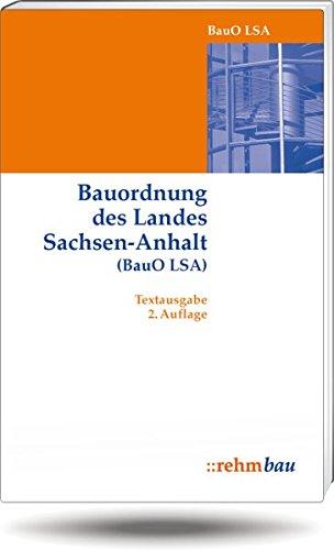 9783807317595: Bauordnung Sachsen-Anhalt (BauO LSA): Textausgabe