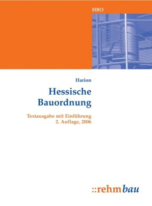 9783807323343: Hessische Bauordnung: Textausgabe mit Einf�hrung