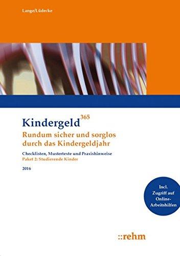 Kindergeld 365 Studierende Kinder 2016: Klaus Lange