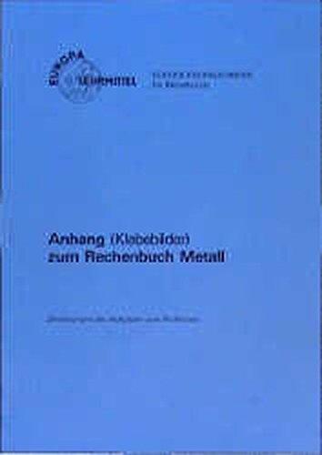 Rechenbuch Metall / Anhang (Klebebilder). Zeichnungen der