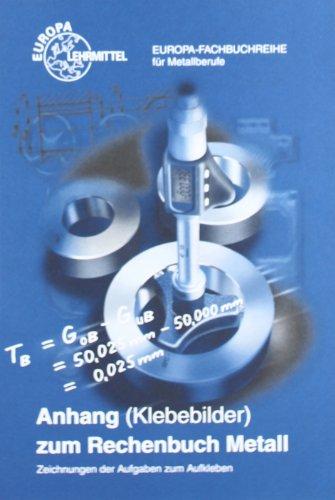 Rechenbuch Metall. Anhang. Klebebilder: Zeichnungen der Aufgaben