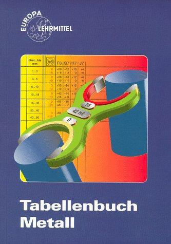 9783808511107: Tabellenbuch Metall (mit Formelsammlung). Europa-Fachbuchreihe fuer Metallberufe.