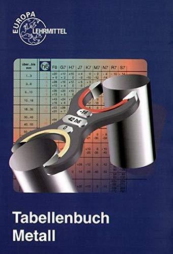 9783808516720: Tabellenbuch Metall (ohne Formelsammlung). Tabellen, Formeln, Übersichten, Normen. (Lernmaterialien)