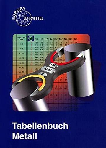 9783808517222: Tabellenbuch Metall (mit Formelsammlung). Tabellen, Formeln, Übersichten, Normen. (Lernmaterialien)