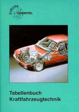 9783808521328: Tabellenbuch Kraftfahrzeugtechnik ( KFZ) mit Formelsammlung. Tabellen, Formeln, Ãœbersichten, Normen