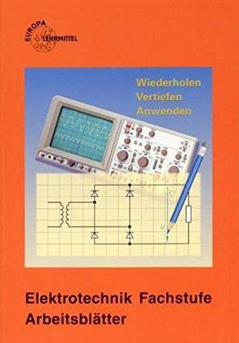9783808530467: Elektrotechnik, Arbeitsblätter, Fachstufe