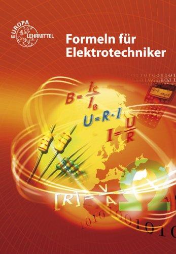 9783808533642: Formeln für Elektrotechniker