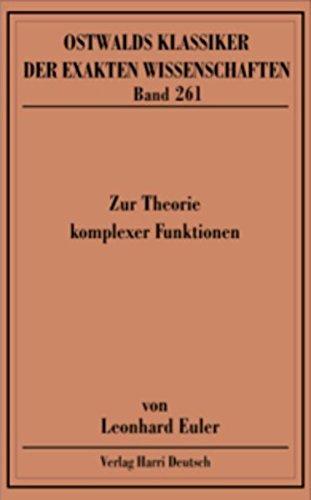 9783808557587: Zur Theorie komplexer Funktionen