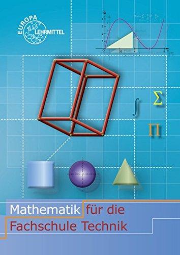9783808570388: Mathematik für die Fachschule für Technik
