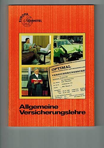 9783808590522: Allgemeine Versicherungslehre