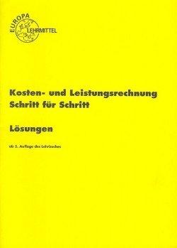 9783808593660: Kosten- u. Leistungsrechnung. Lösungen (Livre en allemand)