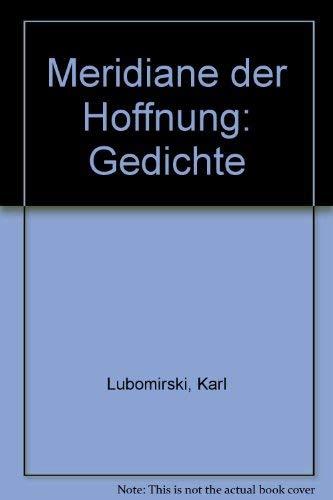 9783809021476 Meridiane Der Hoffnung Gedichte German