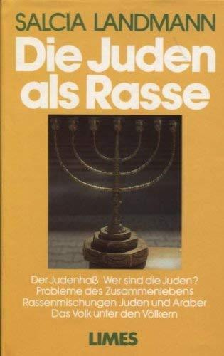 9783809021889: Die Juden als Rasse (German Edition)