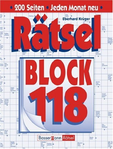 9783809421108: Rätselblock 118