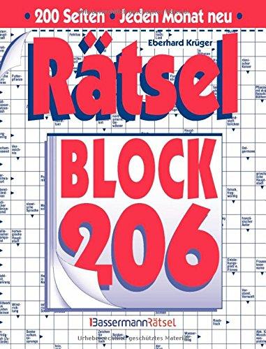 Rätselblock. Bd.206 (Paperback): Eberhard Krüger