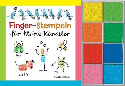 9783809433477: Fingerstempeln für kleine Künstler-Set: Buch und 8 Stempelkissen