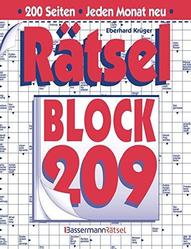 Rätselblock. Bd.209 (Paperback): Eberhard Krüger