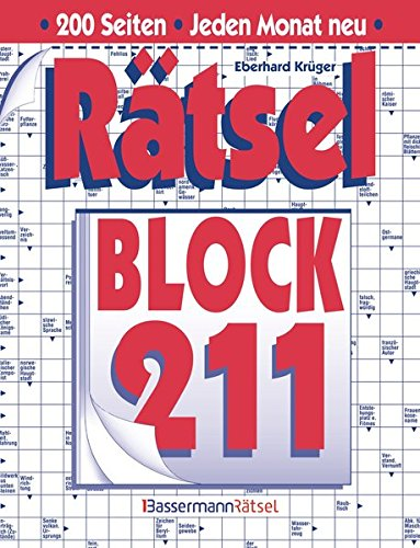 Rätselblock. Bd.211 (Paperback): Eberhard Krüger