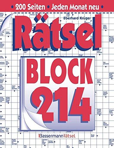 Rätselblock. Bd.214 (Paperback): Eberhard Krüger