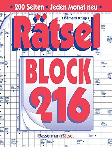 9783809433880: Rätselblock. Bd.216