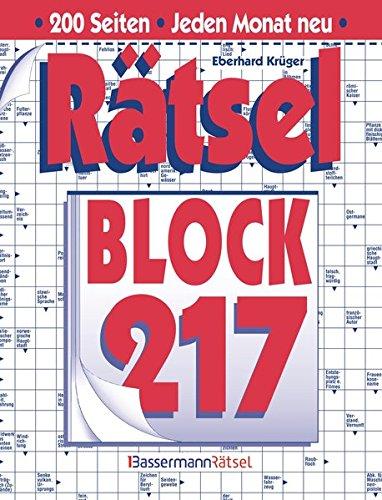 Rätselblock 217 (Hardback): Eberhard Krüger