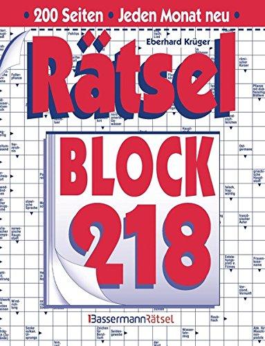 Rätselblock. Bd.218 (Hardback): Eberhard Krüger
