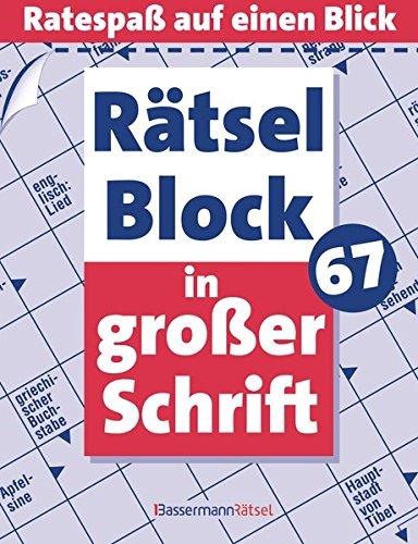 9783809434238: Rätselblock in großer Schrift. Bd.67