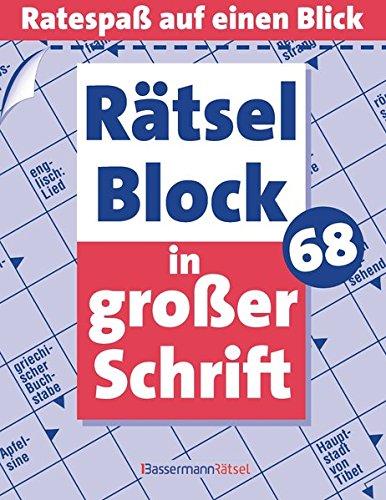 9783809434245: Rätselblock in großer Schrift. Bd.68