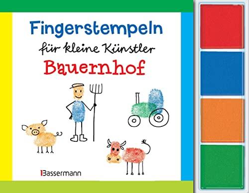 9783809434368: Fingerstempeln f.kl. Künstler- Bauernhof-Set