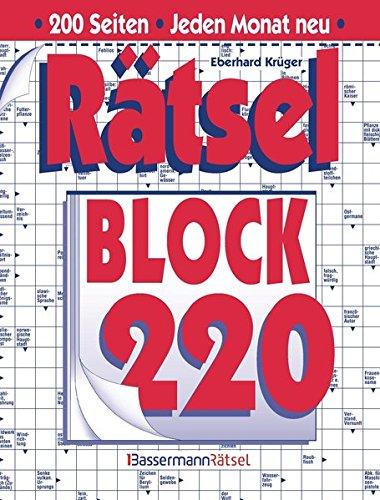Rätselblock. Bd.220 (Paperback): Eberhard Krüger