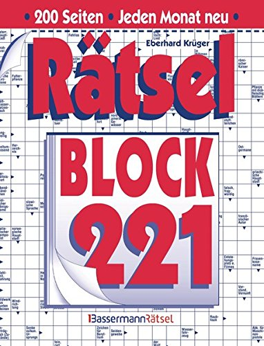 Rätselblock. Bd.221 (Paperback): Eberhard Krüger