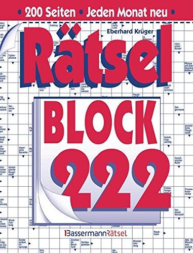 Rätselblock. Bd.222 (Paperback): Eberhard Krüger
