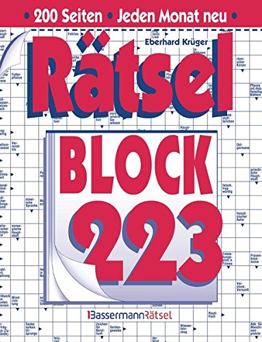 Rätselblock. Bd.223 (Paperback): Eberhard Krüger