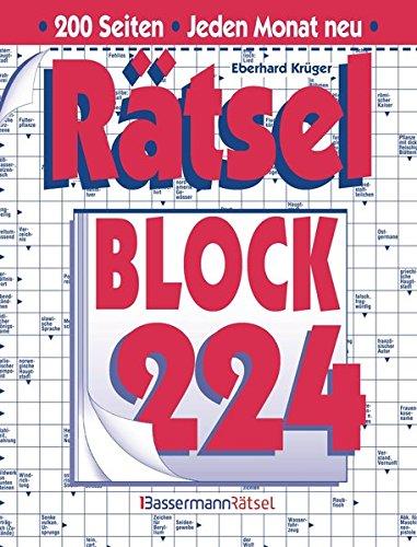 Rätselblock. Bd.224 (Paperback): Eberhard Krüger