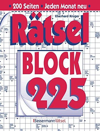 Rätselblock. Bd.225 (Paperback): Eberhard Krüger