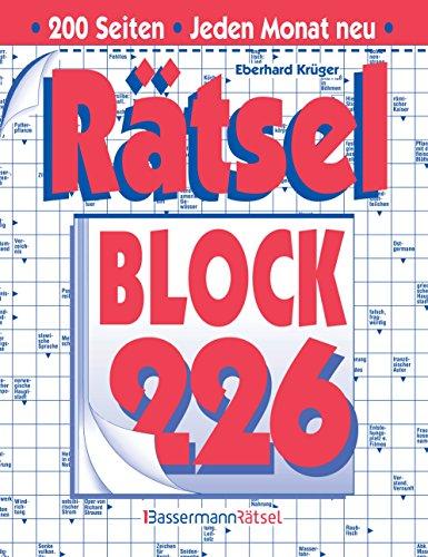 Rätselblock. Bd.226 (Paperback): Eberhard Krüger