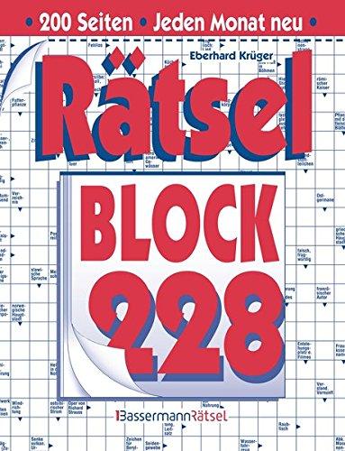 Rätselblock. Bd.228 (Hardback): Eberhard Krüger
