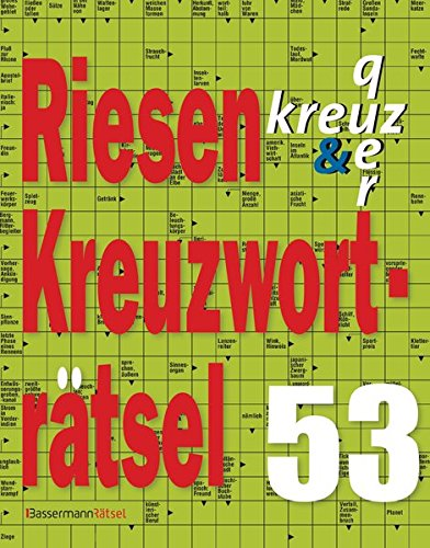 Riesen-Kreuzworträtsel (Paperback): Eberhard Krüger