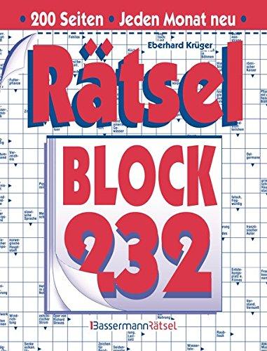 Rätselblock. Bd.232 (Paperback): Eberhard Krüger