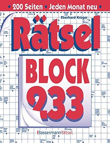 Rätselblock. Bd.233 (Paperback): Eberhard Krüger